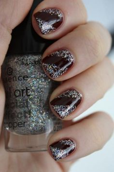 I had black stiletto nails with silver glitter on the tips. Favorite.