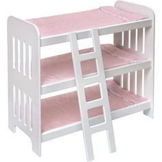 For Lily - Badger Basket Triple Doll Bunk Bed with Ladder and Pink Gingham Mats $39.97   @walmart.com