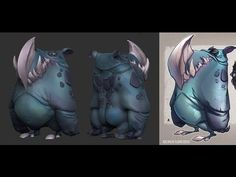 ▶ Zbrush Timelapse - Cartoon Creaturebox - YouTube- This is used as sculpting…