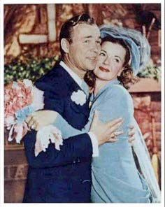 ROY ROGERS & DALE EVANS ~ Married on December 31, 1947, Dale & Roy had appeared in a movie together. Roy had been married twice, and his second wife died in childbirth. Dale had been married four times prior to marrying Roy, but after they married, they handled a total of nine kids, some adopted, the loss of one daughter, and continued to make TV shows. Roy died in 1998, and they were married for 51 years.