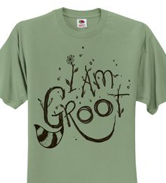 Guardians of The Galaxy T-shirt - Sagestone I am Groot t-shirt - Hand Screen Printed I am Groot shirt