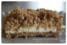 Pretzel Crumb Topping Cheesecake Bars - pretzel recipes curated by SavingStar Grocery Coupons. Save 5 dollars on Snyder's of Hanover Pretzels through 5/31/12 on SavingStar.com