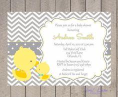 Ducks Baby Shower Invitation Printable  Boy by VividLaneDesigns, $18.00