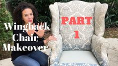 How to Reupholster a Wingback Chair! PART 1: Tearing Down the Chair - Th...