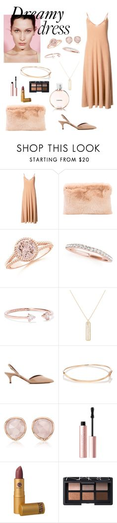 """Dreamy Dress"" by windrasiregar on Polyvore featuring Ryan Roche, Catbird, Monique Péan, Tabitha Simmons, Eva Fehren, Monica Vinader, Too Faced Cosmetics, Lipstick Queen, NARS Cosmetics and Chanel"