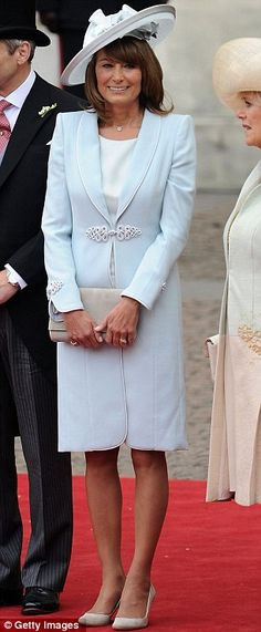 Carole Middleton - I adore this elegant, stylish outfit perfect for a non frumpy, 'still got it' Mother of the Bride'.