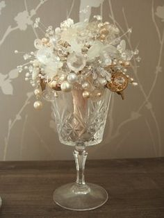 Wedding, Flowers, White, Bridesmaids, Gold, Jewelry, Dcbouquets