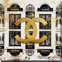 FramedArt.com By Jodi 'Shop Chanel in black' Giclee Print Wall Art