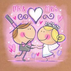 . Wedding Aniversary Quotes, Wedding Anniversary, Wedding Album, Wedding Cards, Sweet Drawings, Tiddly Inks, Love Illustration, Wedding Images, Wedding Ideas
