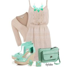 15 Mint Polyvore Combinations For Spring - Fashion Diva Design..love the mint color