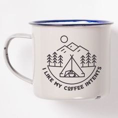 Sip your morning brew out of a punderful camper's mug.   21 Awesome Ways To Bring The Outdoors Into Your Home