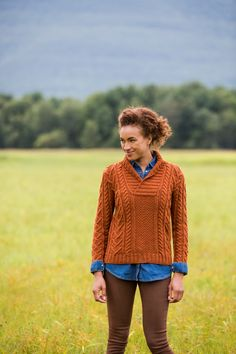 The generous shawl collar of this richly textured classic pullover will keep you nice and warm. The simple, bold, mirrored cables on a ground of moss stitch create flattering vertical lines on the body and can be worked from written instructions or from charts, according to your preference. Millisande is knit in the round from …