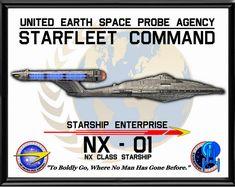 Enterprise NX Poster by viperaviator on DeviantArt Vaisseau Star Trek, Akira, Type 1, Star Trek Posters, Stark Trek, Starfleet Ships, Star Trek Images, Sci Fi Tv Shows, Star Trek Starships