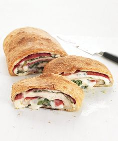 Salami and Spinach Stromboli | Easy Italian Recipes | Real Simple