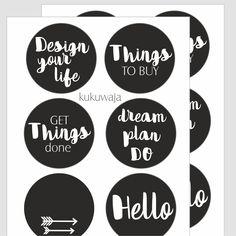 Planner Zubehör Aufkleber von kukuwaja - Organisieren leicht gemacht mit kukuwaja - gestalten Sie mir unseren Planner Zubehör Aufkleber Ihre eigenen Notizblöcke im Handumdrehen, Beispiele finden Sie in unserem Pinsterest Board - www.kukuwaja.de