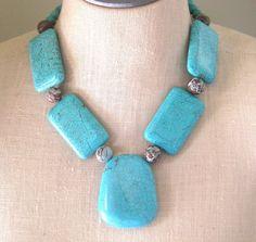 Genuine Turquoise Blue  Brown Jasper Kristina by FiorellaJewelry, $60.00