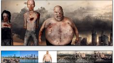 HOW TO CREATE A ZOMBIE INFESTED CITY! In this Photoshop tutorial, I used compositing to create a burning city with crumbling buildings that served as a backdrop for my post-apocalyptic scene and then I used photomanipulation to transform regular people into the flesh-eating zombies you see in the foreground! Click the link below to learn more.