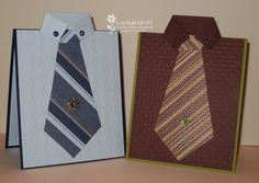 Tie card with instructions
