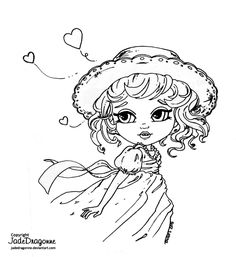 Lilttle Miss Sunshine by JadeDragonne on DeviantArt Colouring Pages, Adult Coloring Pages, Coloring Books, Cartoon Drawings, Animal Drawings, Art Drawings, Digi Stamps Free, Digital Stamps, Female Dragon