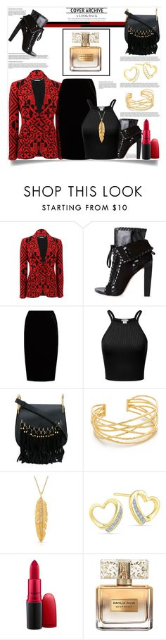 """Cover Archive: A Look Back"" by helenaymangual ❤ liked on Polyvore featuring Alexander McQueen, Alexander Wang, Jupe By Jackie, Chloé, Gorjana, Anne Sisteron, MAC Cosmetics and Givenchy"