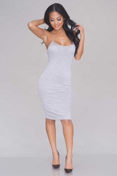 Strappy Back Knit Dress – Heather Grey - New Arrivals
