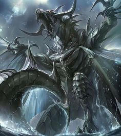 Beautiful pictures of dragons Dragon art and drawings Dark Fantasy Art, Fantasy Artwork, Final Fantasy, Dragon Horns, Dragon King, Ice Dragon, Dragon Book, Green Dragon, Fantasy Beasts