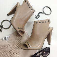 Vince Camuto Taupe Studded Cutout Booties Size 8, brand new in box. 12071505 Vince Camuto Shoes Ankle Boots & Booties