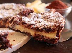 Sbriciolata al cacao, un dolce facile e veloce: guscio di pasta frolla al cacao e una crema delicata di ricotta e cioccolato bianco.