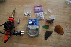 Wire wrap your own sea glass pendant - instructions
