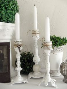 Upcycled Candlesticks