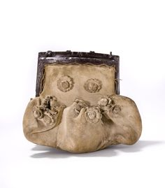 Belt pouch | France | 16th century | goat leather, iron | Museum of Bags & Purses