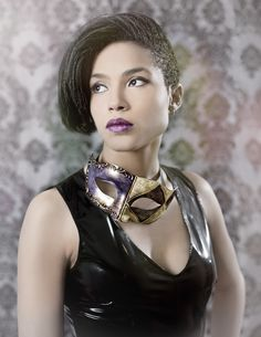 #alternativemodel #altmodel #mask #purplelipstick #makeup #latex #shorthair #fashion #nyc