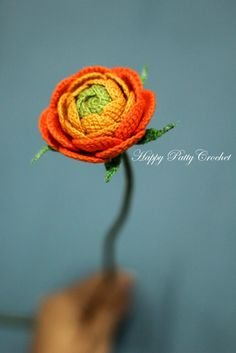 Crochet Ranunculus by Happy Patty Crochet