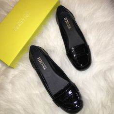NIB Kenneth Cole Patent Leather Loafers Brand new in box Kenneth Cole black patent leather loafers in size 6. Kenneth Cole Reaction Shoes Flats & Loafers
