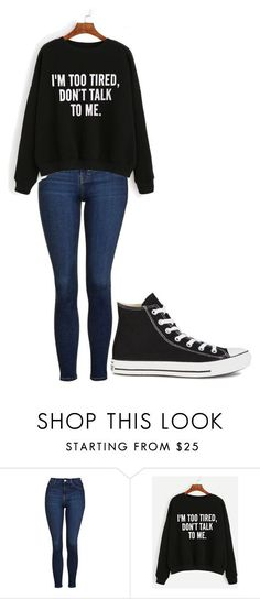 """Untitled #232"" by cruciangyul on Polyvore featuring Topshop, WithChic and Converse"
