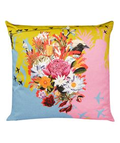 Bird Nestles Cushion, Laura Oakes. Shop the latest Laura Oakes collection at Liberty.co.uk