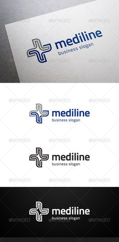 Mediline Logo — Vector EPS #clinic #health care • Available here → https://graphicriver.net/item/mediline-logo/4980751?ref=pxcr