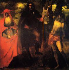 "John Singer Sargent Saint Roch with Saint Jerome and Saint Sebastian ca. 1880-81 """