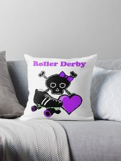 My roller derby design in purple for anyone who wants it! Whether roller derby player or fan! / The background is transparent so it is possible to make it a different color, so message me, but it is on a gradient so I may not be able to get the exact shade, but I'll do my best! :) • Also buy this artwork on home decor, apparel, stickers, and more.