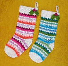 Free Crochet Pattern: Fabulously Festive Christmas Stockings