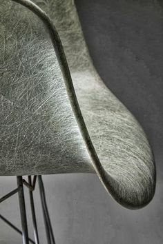 Designed by famous chair designers, Ray and Charles Eames. Made with zenaloy which is a polyester material mixed with fibreglass