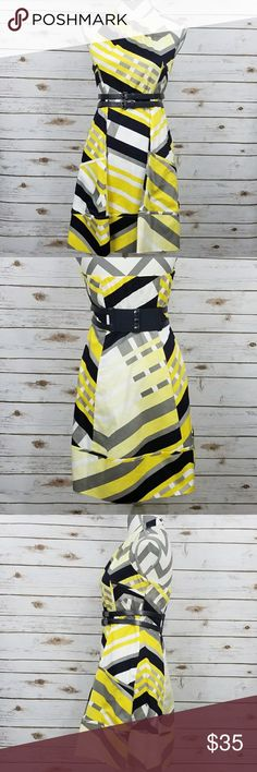 Jessica Simpson Belted Dress Jessica Simpson Women's belted halter pockets dress in Rosalie Sulphur. Flaw noted above. Jessica Simpson Dresses