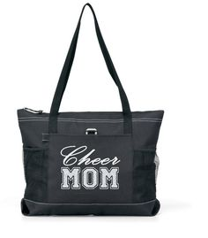"Large 20"" CHEER MOM Sports Bag with soft solid color or Glitter design."