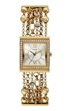 GUESS Women`s U0140L2 Pearl Embellished Gold-Tone Bracelet Watch - Listing price: $105.00 Now: $89.93