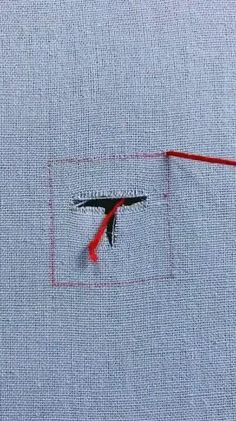Basic Embroidery Stitches, Hand Embroidery Videos, Sewing Stitches, Embroidery Techniques, Sewing Techniques, Diy Clothes Life Hacks, Diy Clothes And Shoes, Sewing Clothes, Sewing Basics