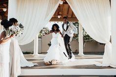 Nia and Javon's Modern Southern Glam Wedding in Georgia Wedding Broom, Honeymoon Attire, Wedding Night Lingerie, Atlanta Wedding, Bridal Photography, Bridal Beauty, Here Comes The Bride, Dream Wedding, Wedding Stuff