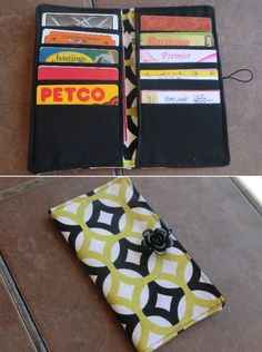 Card wallet with pockets - Best Fabric Store Blog