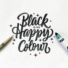 Black is my jam. Plain and simple. Head on over to @crayligraphy to see other's…