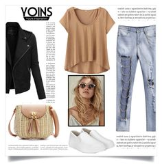 """""""YOINS"""" by esma-373 ❤ liked on Polyvore featuring Oris and LE3NO"""