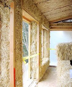 Could play with straw bales in the back patio